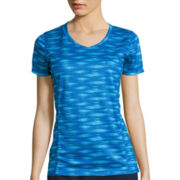 Made For Life™ Short-Sleeve Print V-Neck Mesh T-Shirt - Tall