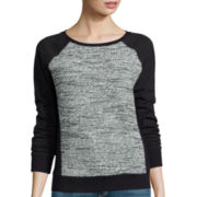 Liz Claiborne® Long-Sleeve Ribbed-Panel Sweatshirt - Tall