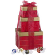 Lindt Lindor Assorted Truffles Holiday Gift Tower
