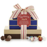 Lindt Lindt Assorted Truffles and Pralines Happy Holidays Gift Tower