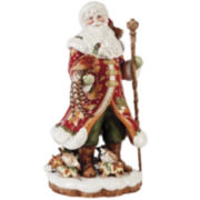 Fitz and Floyd® Bountiful Holiday Santa with Pheasant Figurine Tabletop Centerpiece