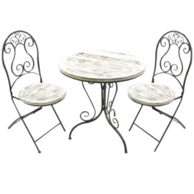 jcpenney.com | Annecy 3-pc. Distressed Bistro Set