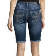 Love Indigo Cross Back-Pocket Denim Bermuda Shorts