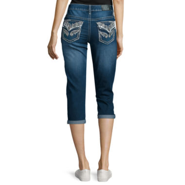 jcpenney.com | Love Indigo Back-Flap Pocket Denim Capris