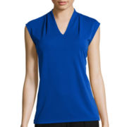 Liz Claiborne® Sleeveless V-Neck Top