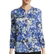 Liz Claiborne® 3/4-Sleeve Soft Blouse
