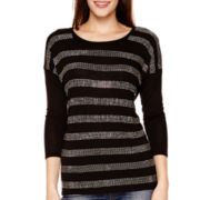 i jeans by Buffalo Short-Sleeve Stripe Sparkle T-Shirt