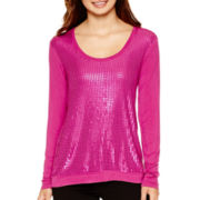 i jeans by Buffalo Long-Sleeve Sequin Top