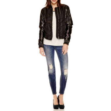 jcpenney.com | i jeans by Buffalo Faux Leather-Sleeve Jacket, Heathered Top or Distressed Skinny Jeans