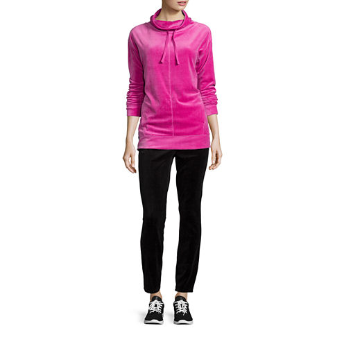 St. John's Bay® Velour Mockneck Pullover Top or Velour Ponte Pants