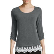Alyx® Gauze Top with Embroidered Lace