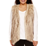 Alyx® Sleeveless Faux-Fur Vest - Plus