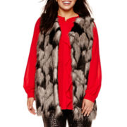Bisou Bisou® Sleeveless Faux-Fur Vest - Plus