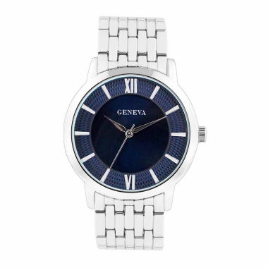 jcpenney.com | Geneva Mens Blue and Silver-Tone Bracelet Watch