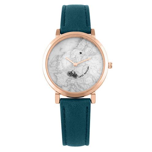 Decree Womens Green Strap Watch-Pt1938rgtq