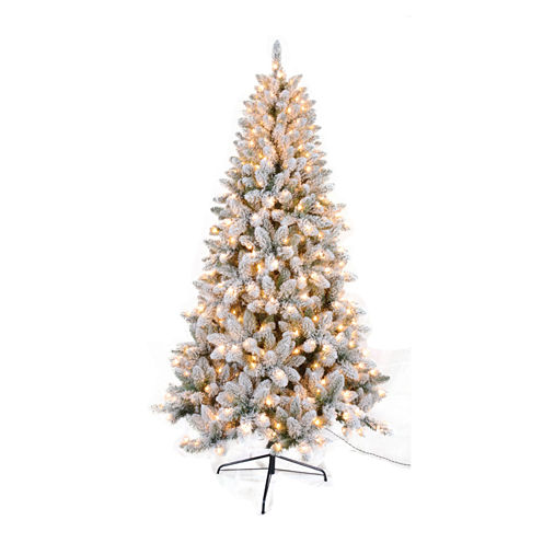 7.5 Ft. Flocked Tree With 450 Ul Lights