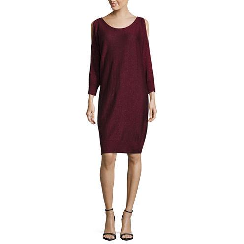 Worthington Long Sleeve Sweater Dress