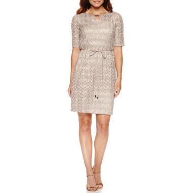 jcpenney.com | Studio 1 Elbow Sleeve Shift Dress