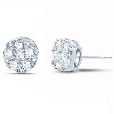 jcpenney.com | 1 CT. T.W. Round White Diamond 10K Gold Stud Earrings