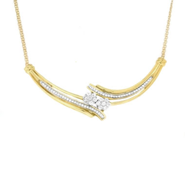 jcpenney.com | Diamond Blossom 10K Gold Chain Necklace