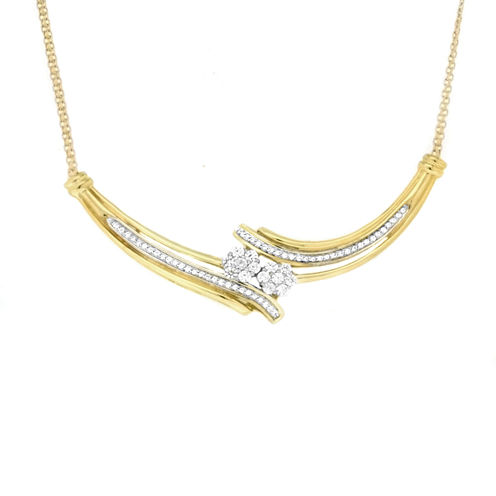Diamond Blossom 10K Gold Chain Necklace