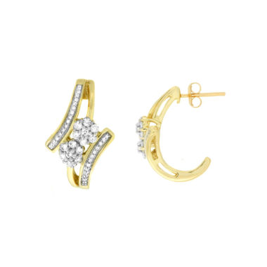 jcpenney.com | Diamond Blossom 1/2 CT. T.W. White Diamond 10K Gold Drop Earrings