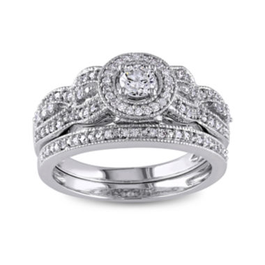jcpenney.com | 1/2 CT. T.W. White Diamond 10K Gold Bridal Set