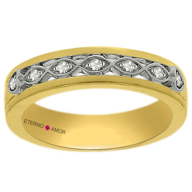 jcpenney.com | Eterno Amor Womens 1/10 CT. T.W. Diamond 14K Gold Band