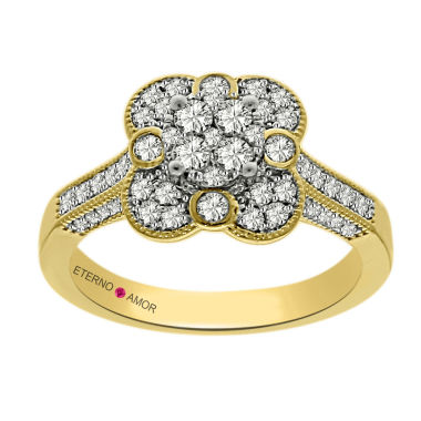 jcpenney.com | Eterno Amor Womens 3/4 CT. T.W. Round White Diamond 14K Gold Engagement Ring