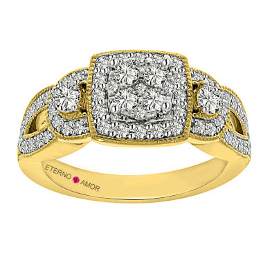 jcpenney.com | Eterno Amor Womens 7/8 CT. T.W. Round White Diamond 14K Gold Engagement Ring