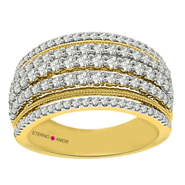 jcpenney.com | Eterno Amor Womens 1 CT. T.W. White Diamond 14K Gold Band