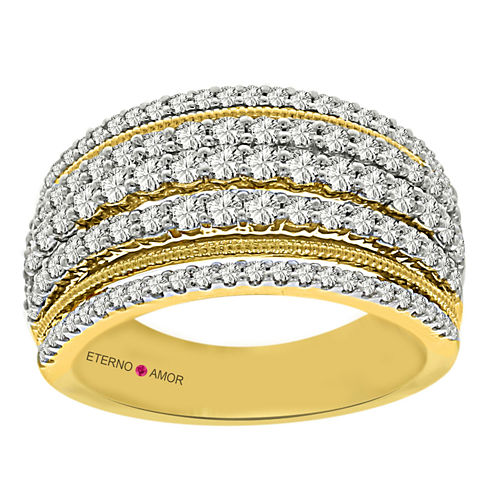 Eterno Amor Womens 1 CT. T.W. White Diamond 14K Gold Band