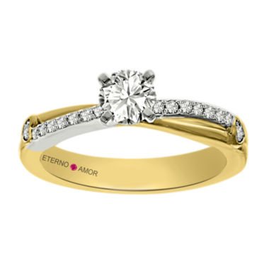 jcpenney.com | Eterno Amor Womens 5/8 CT. T.W. Round White Diamond 14K Gold Engagement Ring