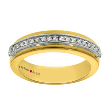 jcpenney.com | Eterno Amor Womens 1/6 CT. T.W. White Diamond 14K Gold Band