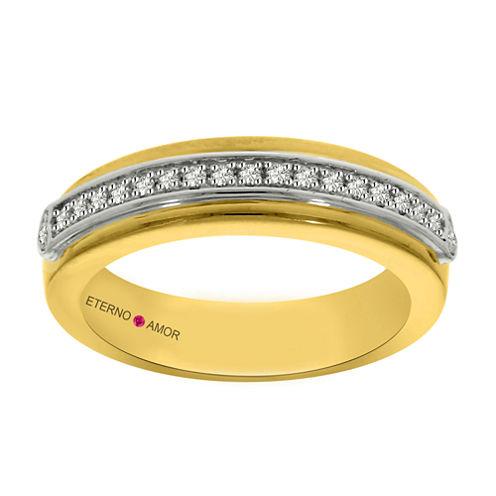 Eterno Amor Womens 1/6 CT. T.W. White Diamond 14K Gold Band
