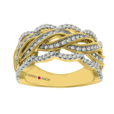 jcpenney.com | Eterno Amor Womens 3/8 CT. T.W. White Diamond 14K Gold Band