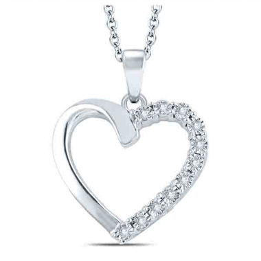 jcpenney.com | Womens Diamond Accent White Diamond Accent Sterling Silver Pendant Necklace