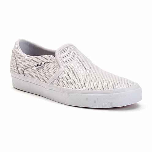 Vans® Perforated Leather Asher  Womens Skate Shoes