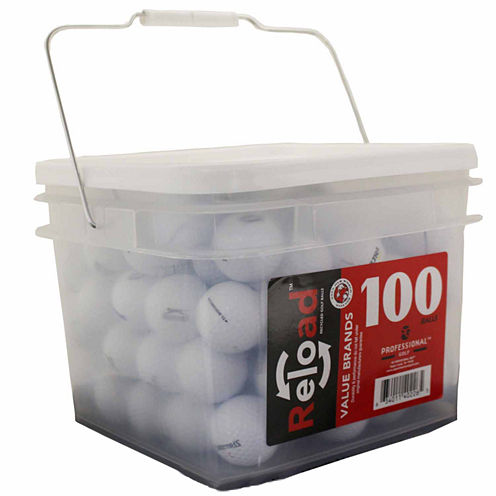 100 Ball Bucket of Recycled Golf Balls Assorted Brands and Models.