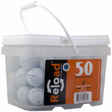 jcpenney.com | 50 pack Taylormade Rocketballz Urethane Refinished Golf Balls in a reusable plastic bucket with handle.