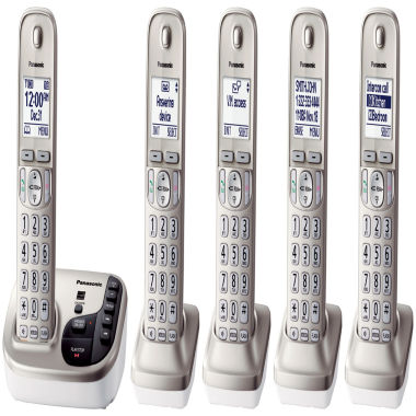 jcpenney.com | Panasonic KX-TGD225N Expandable Digital Cordless Answering System with 5 Handsets - Champagne Gold