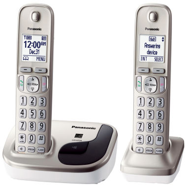 jcpenney.com | Panasonic KX-TGD212N Expandable Digital Cordless Phone with 2 Handsets - Champagne Gold