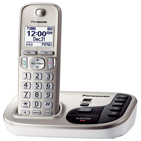 Panasonic KX-TGD220N Expandable Digital Cordless Answering System with 1 Handset - Champagne Gold