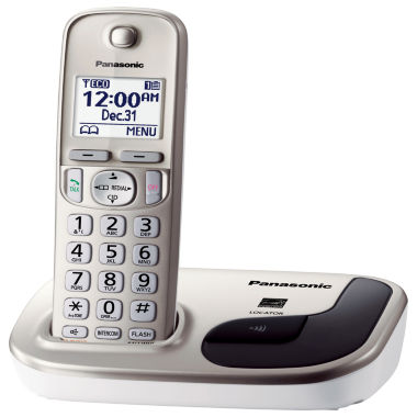 jcpenney.com | Panasonic KX-TGD210N Expandable Digital Cordless Phone with 1 Handset - Champagne Gold
