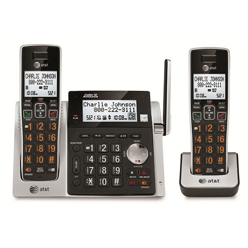AT&T CL83213 DECT 6.0 Cordless Phone with Answering System - 2 Handsets