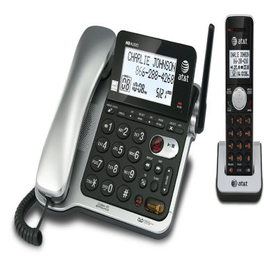 jcpenney.com | AT&T CL84102 DECT 6.0 Expandable Corded/Cordless Phone with Answering System and Caller ID/Call Waiting