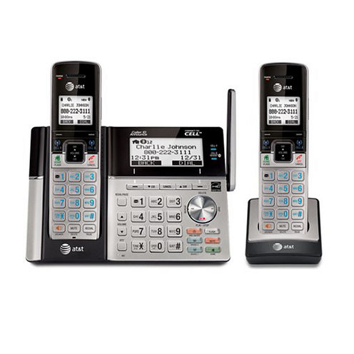 AT&T TL96273 DECT 6.0 Connect-to-Cell 2 Handset Phone System with Dual Caller ID