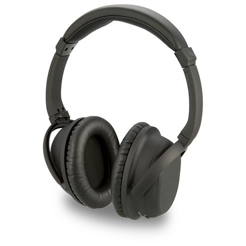 iLive IAHP86B Bluetooth Noise-Canceling Headphones with Microphone & Auxiliary Input