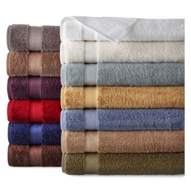 jcpenney.com | Royal Velvet® Luxury Egyptian Cotton Loops Bath Towels