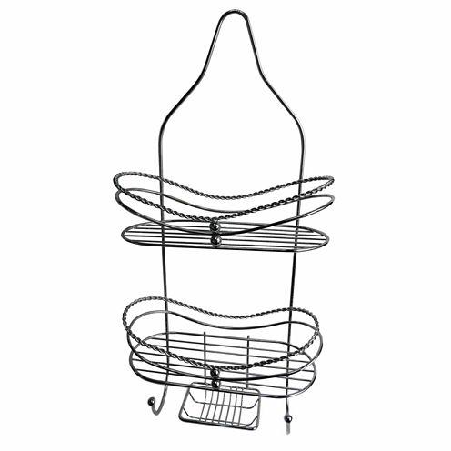 Elegant 2-Shelf Shower Caddy With Soap Dish